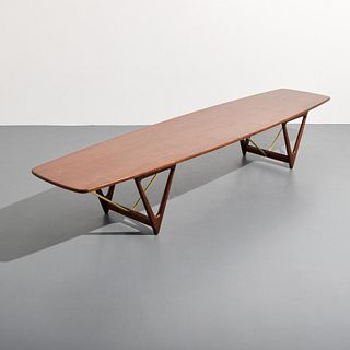 "Kurt Ostervig Coffee Table, 98""L"