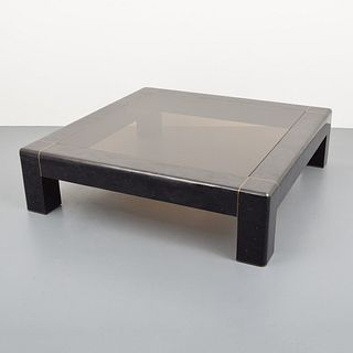 Large Karl Springer Coffee Table