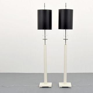 Pair of Tommi Parzinger Floor Lamps