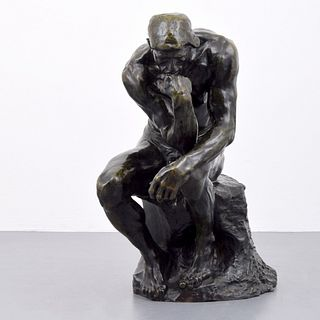 Auguste Rodin (after) Bronze Sculpture, Rockefeller Line