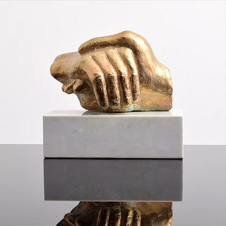 Minna Harkavy Bronze Hands Sculpture