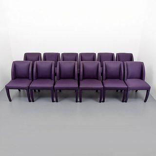 Vladimir Kagan Dining Chairs, Set of  12