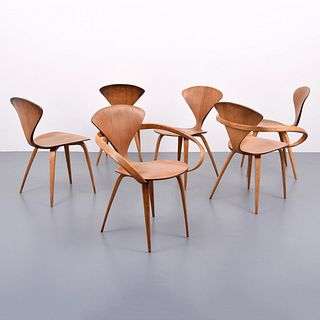 Norman Cherner Dining Chairs, Set of 6