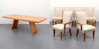 Dakota Jackson Dining Table & 6 Chairs