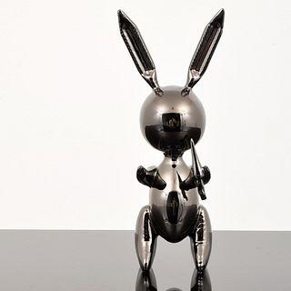 Jeff Koons (after) Black Rabbit Balloon Sculpture