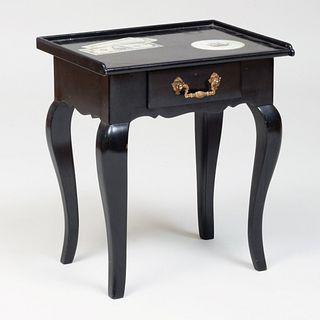 Louis XV Style Ebonized Trompe L'Oeil Telephone Table