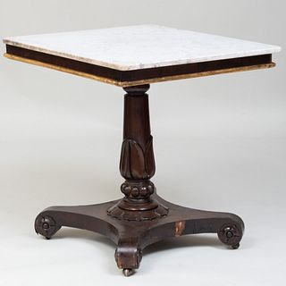 Victorian Carved Mahogany and Parcel-Gilt Center Table