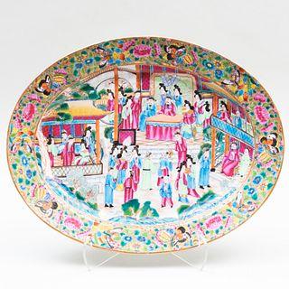 Chinese Export Rose Medallion Porcelain Platter