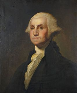 Gilbert Stuart (American 1755-1828)   Israel Kinsman Portrait of George Washington  1803-1805