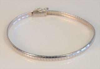 14 Karat White Gold Bracelet 7 inches, 7.5 grams