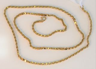 18 Karat Gold Chain with heavy links length 28 inches, 44.6 grams