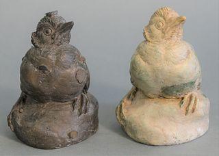 Two Joseph Boulton (1896 - 1981) Pieces bronze bird sculpture with casting rods signed JC Boulton along with original plaster model, signed J. Boulton