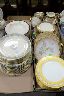 "Large Group of mismatched Porcelain China to include Lenox ""The Autumn""; Coal Port plates; six French scalloped-edge plates; Lenox ""Barday"" partial se"