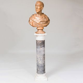 After Thomas Truman Spear (1803-1882): Plaster Bust of a Man, Possibly Henry Clay