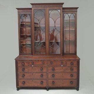 Federal Mahogany Bookcase
