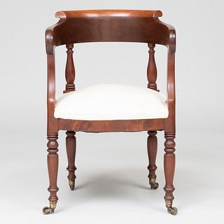 Federal Carved Mahogany Desk Chair