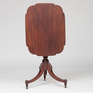 Federal Mahogany Tilt-Top Candle Stand, Possibly Albany County, NY