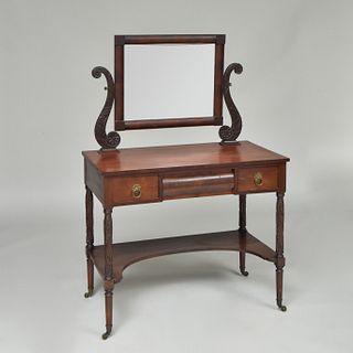 Late Federal Mahogany Dressing Table