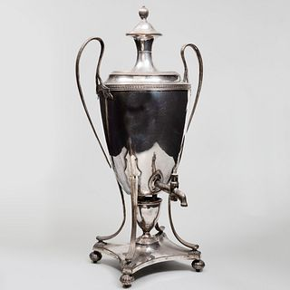 Sheffield Plate Hot Water Urn