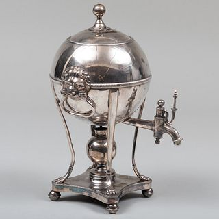 Sheffield Plate Globular Hot Water Urn on Paw Feet