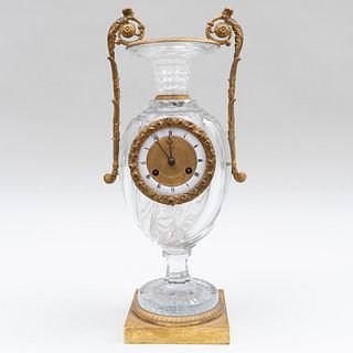 Charles X Desarnaud Ormolu-Mounted Glass Urn Form Clock