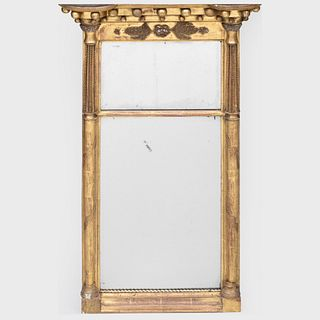 Federal Giltwood Two Part Mirror
