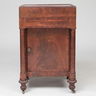 Late Federal Mahogany Bedside Cabinet