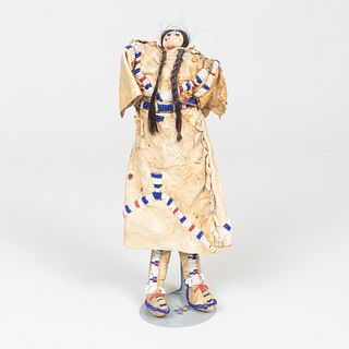 Plains Beaded and Hide Doll