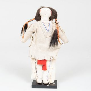 Cheyanne or Arapaho Plains Hide Doll, Probably Canadian River Region