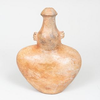 Pre-Columbian Figural Pottery Vessel