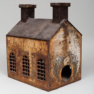 Painted Tin Squirrel House