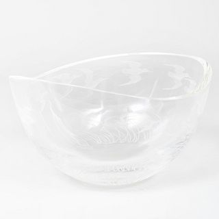 Steuben Snipe Bowl, Designed by James Houston