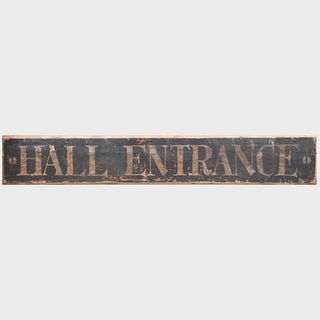 American Painted Wood Sign