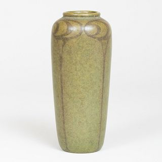 Marblehead Green Glazed Pottery Vase