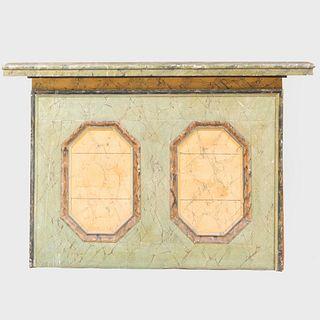 Marbleized Wood Overmantle Board