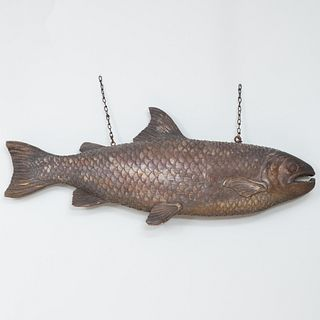 New England Carved Trade Sign in the Form of a Cod