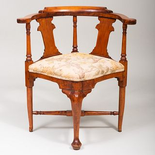 Chippendale Maple Corner Chair