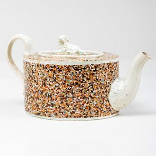 Staffordshire Pearlware Teapot