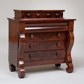 Late Federal Mahogany Tall Chest of Drawers