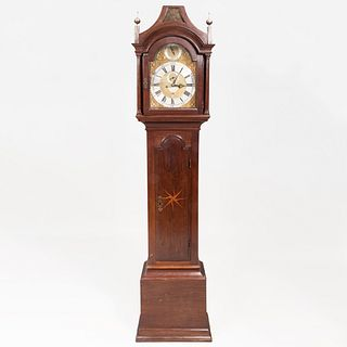 Federal Inlaid Mahogany Tall Case Clock, Dial Signed Thos. Gardner in the Minories, London