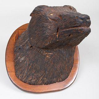 Folk Art Carving of a Black Bear Trophy
