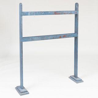 Blue Painted Quilt Rack