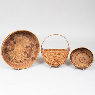 Group of Three Woven Baskets