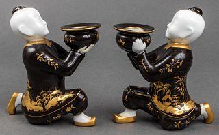 Tiffany & Co. Le Tallec Porcelain Candlesticks