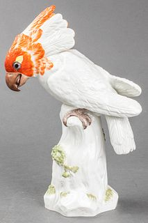 Meissen Porcelain Model Of A Cockatoo