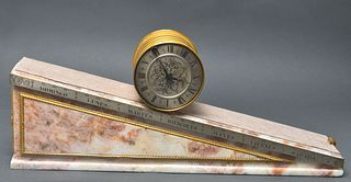 E Gubelin Lucerne 7-Day Marble Incline Plane Clock