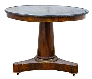 Louis Philippe Mahogany & Marble Center Table