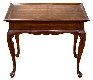 George III Style Mahogany Silver Table