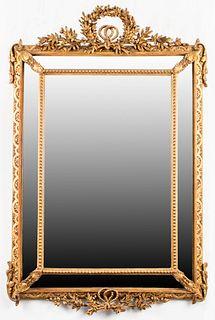 Louis XVI Style Large Giltwood Wall Mirror