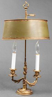 Louis XV Style Green Bouillotte Lamp